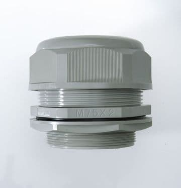 NCG-M75A-66 GREY - M75 x 2 Cable Gland, IP68, 56-66mm, UL Nylon 66