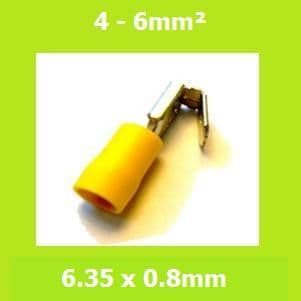 Piggy Back Terminal, PBDD5-250, Yellow, Double Crimp, Vinyl Insulated, (Pack of 100)