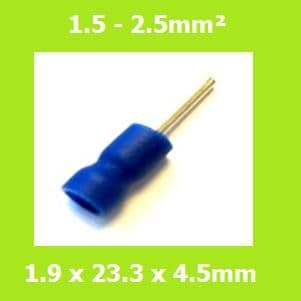 Pin Terminal, PTV 2-12, BLUE, Vinyl Insulated, PAck of 100