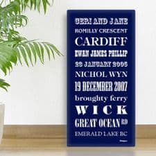 Favourites and Memories Personalised Prints and Canvas