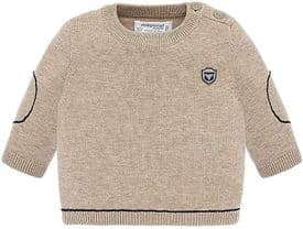 Mayoral Baby Boys Beige Knitted Jumper - 2307