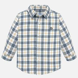 Mayoral Baby Boys Corn Checked Long Sleeved Shirt - (style 2116)
