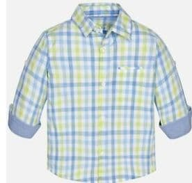 Mayoral Baby Boys Green & Blue Checked Shirt - (style 1172)