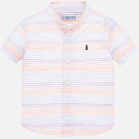 Mayoral baby boys neon stripe short sleeve shirt (style 1161)