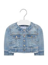 Mayoral baby girls soft denim jacket with design (1471)