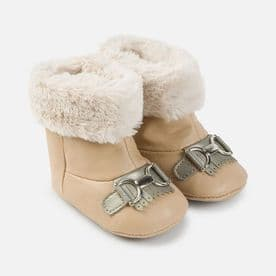 Mayoral Baby Girls Tan Winter Soft Sole Boots - 9642