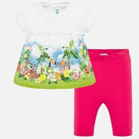 Mayoral baby girls two piece tropical leggings set (1710)