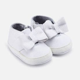 Mayoral Baby Girls White Soft Sole Trainers - 9140