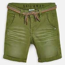Mayoral Boys Green Shorts With Belt - 3266