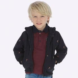 Mayoral Boys Navy Embroidered Jacket - 4439