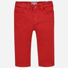 Mayoral Boys Red Twill 5 Pocket Trousers - 501