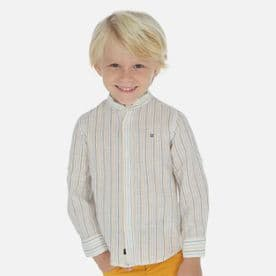 Mayoral boys stripe grandad summer shirt (style 3170)