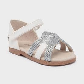 Mayoral braided leather girls sandals (41264)