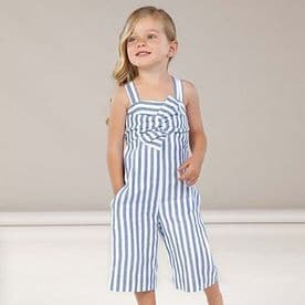 Mayoral girls blue and white summer jumpsuit (3817)