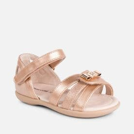 Mayoral Girls Copper Strappy Bow Sandal - 41028
