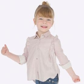 Mayoral girls quartz ruffled striped blouse 4107