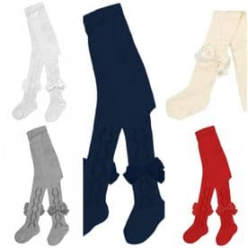 Pex Baby Girls Grazia Bow Tights - Various Colours
