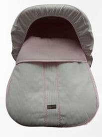 Rosy Fuentes White & Pink Leatherette Cover & Hood For The First Stage Car Seat