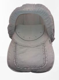 Rosy Fuentes White & Silver Grey Fabric Cover & Hood For First Stage Car Seat