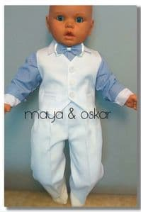 Baby Boy Blue White Suit