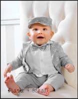 Boy's 5-piece Grey Anchor Outfit