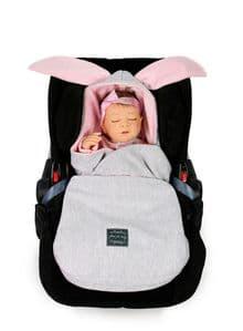 Bunny  Car Seat  Blanket PINK, GREY or BLUE