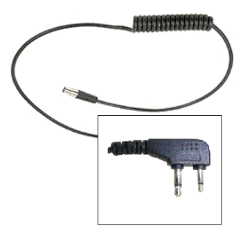 3M Peltor FLX2 Cable for Icom Right Angled 2 Pin