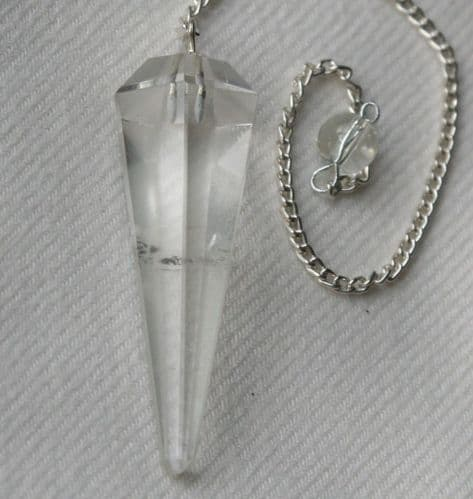 Quartz Crystal Gemstone Dowsing Pendulum