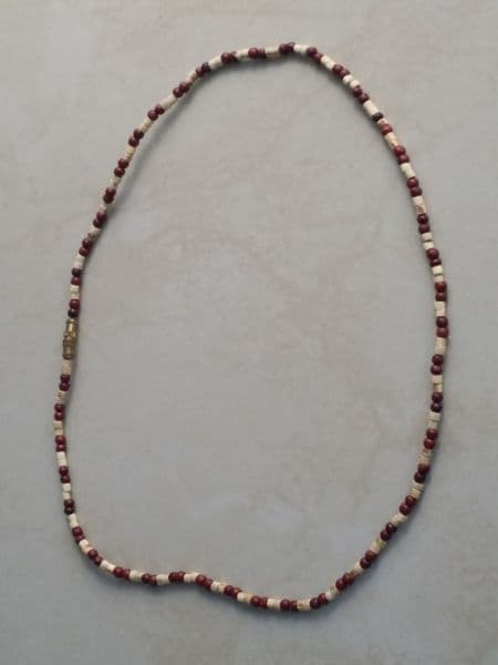 Tulsi Neck Beads Mixed With Brown Beads [One loop around the neck]