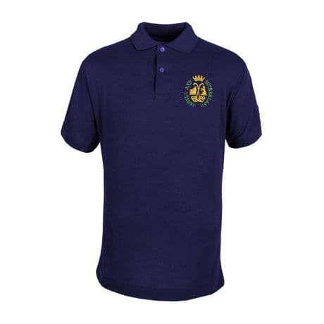 The Argyll and Sutherland Highlanders premium quality military polo shirt with the regimental  Argyll & Sutherland Highlanders cap badge embroidered on the left chest.