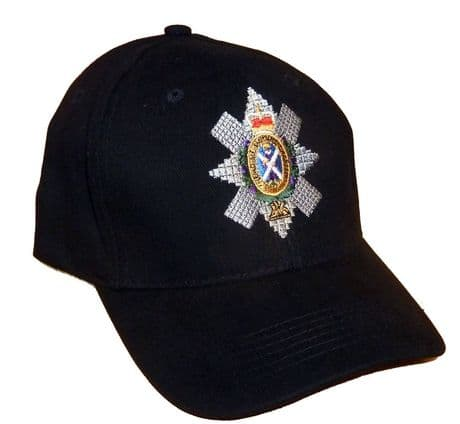 The Black Watch - Baseball Cap with embroidered cap badge for the Royal Highlanders.