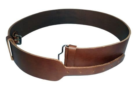 The Royal Regiment of Scotland official RHQ authorised Officers and SNCO dark brown regimental leather Kilt Belt.