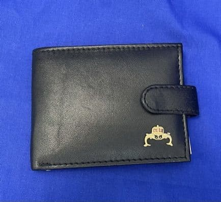 UK Armed Forces Veterans Leather wallet with Veterans badge on front cover, great gift idea.