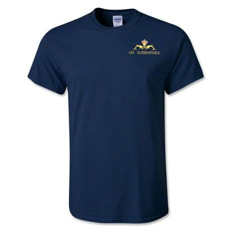 The Royal Navy - cotton t-shirt with the white ensign logo of the Royal Navy on the left chest.