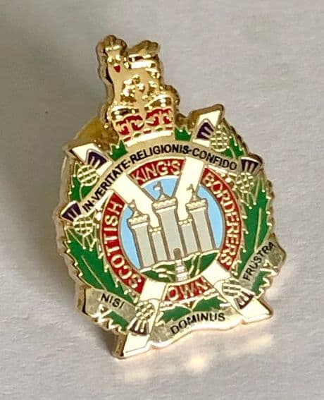 The Kings Own Scottish Borderers new design lapel badge available for only £5.99 inc delivery.