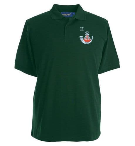 The Light Infantry regiment polo shirt with an embroidered cap badge and all battalions available.