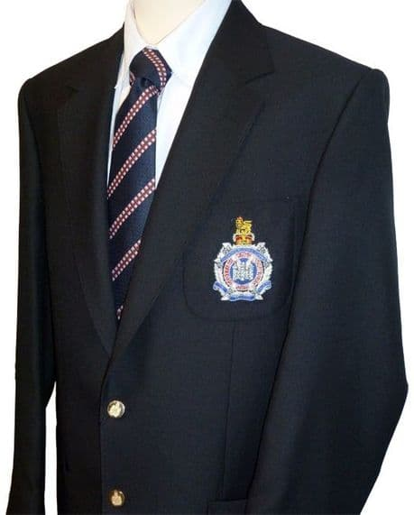 British Army, Navy & Royal Air Force - Veterans military men's Blazer Jacket available with regimental blazer badge and engraved brass buttons.