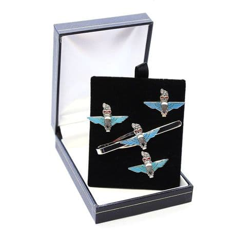 Parachute Regiment - Cufflinks, Tie Slide or Boxed Set from