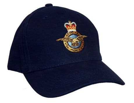 The Royal Air Force - Baseball Cap embroidered with the crest of the RAF.