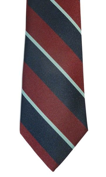 Premium Royal Air Force polyester striped tie for the RAF featuring the colours of the Royal Air Force.