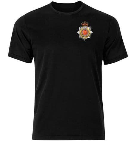 The Royal Corps of Transport cotton military T-Shirt with embroidered regimental badge of the Royal Transport regiment.