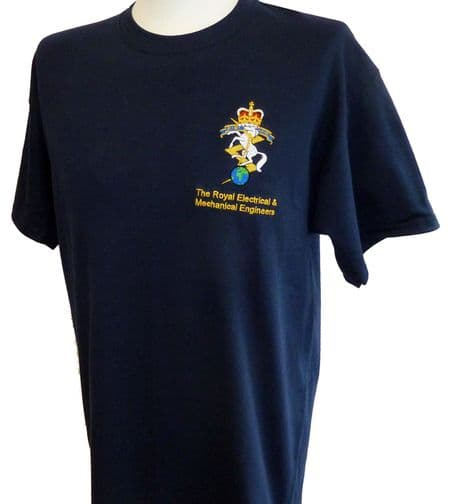 The Corps of Royal Engineers - T-Shirt with the regimental badge of the Royal Engineers.
