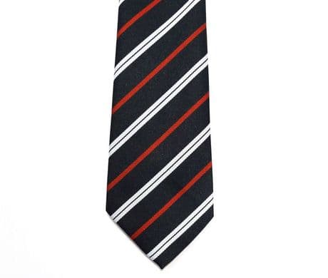 The Royal Corps of Transport striped regimental tie in polyester.