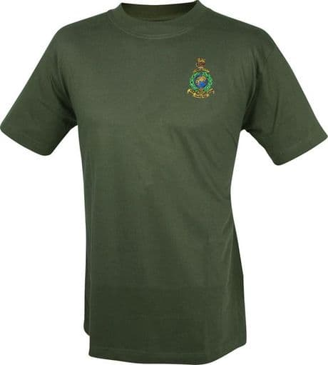Royal Marines military T-shirt with embroidered cap badge