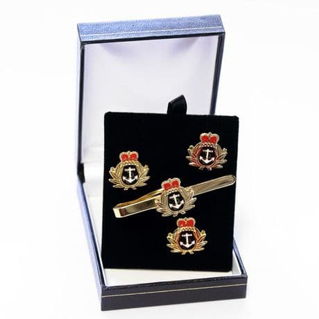 Royal Navy Officers - Cufflinks, Tie Slide or Boxed Set from