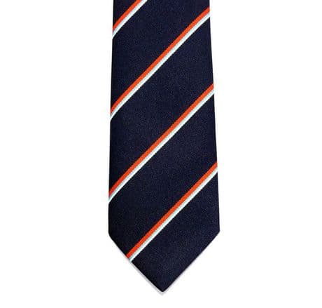 The Royal Navy striped service neck tie for the Royal Navy and Asscociation.