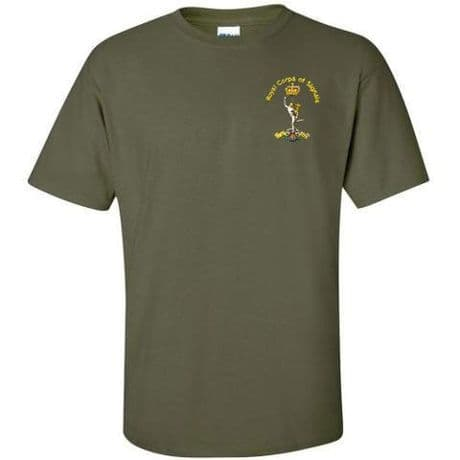 Royal Signals military t-shirt with embroidered signals cap badge