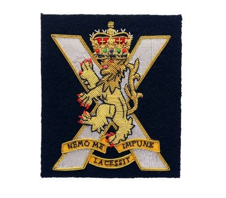 SCOTS | Royal Regiment of Scotland wire embroidered blazer badge.