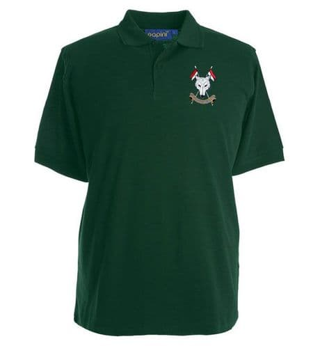 Scottish and North Irish Yeomanry cotton military t-shirt with embroidered SNIY regimental cap badge,  available in military green, navy blue and black. Add company name to badge.