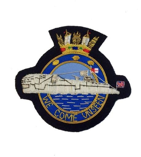 HM Submariners - wire embroidered blazer badge